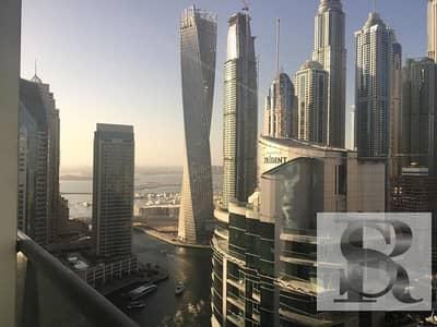 2 Bedroom Flat for Rent in Dubai Marina, Dubai - High Floor   2 BR + Maid    Marina View