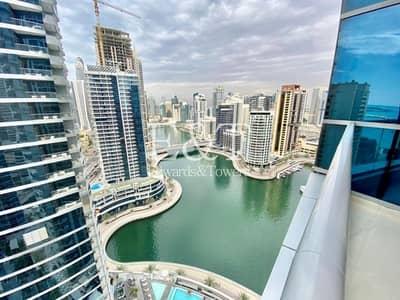 فلیٹ 1 غرفة نوم للايجار في دبي مارينا، دبي - Fully Furnished | High Floor | Full Marina View