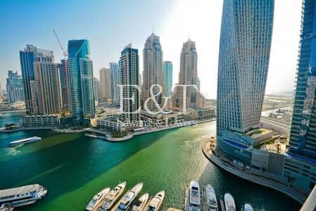 شقة 2 غرفة نوم للايجار في دبي مارينا، دبي - Full Marina View   Rare Layout   Ready to View