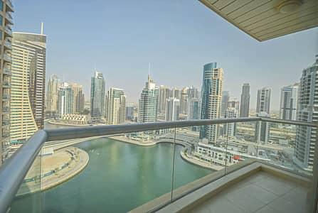 فلیٹ 1 غرفة نوم للايجار في دبي مارينا، دبي - Full Marina View |Unfurnished 1 Bed |Chiller free