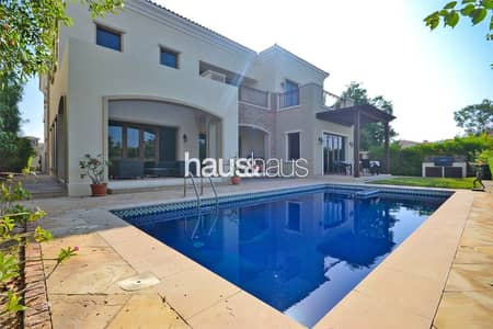 5 Bedroom Villa for Sale in Jumeirah Golf Estate, Dubai - Golf and Lake View| Double Height Ceilings| Vacant