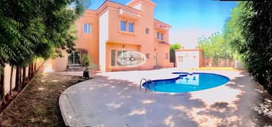 Spacious 5 bedroom plus maid independent villa with private pool in and garden in Al Qouze