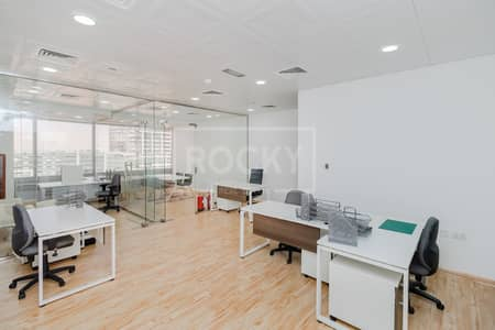 Office for Rent in Jumeirah Lake Towers (JLT), Dubai - Elegant Furnished Office|Partitioned|Prime Location|DMCC