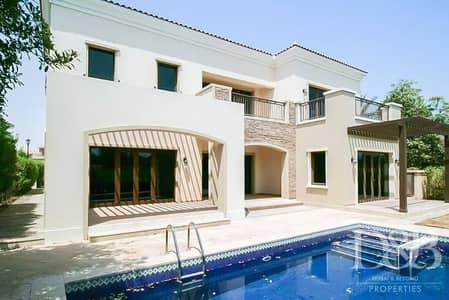 فیلا 5 غرف نوم للايجار في عقارات جميرا للجولف، دبي - Vacant | Full Golf Course View | Private Pool