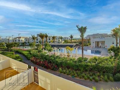 3 Bedroom Villa for Rent in Reem, Dubai - Single Row on Pool Type J 3Bed+M Avbl July