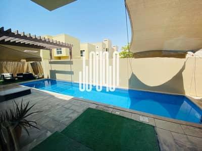 5 Bedroom Villa for Sale in Al Raha Gardens, Abu Dhabi - luxury villa Premium location with swimming pool