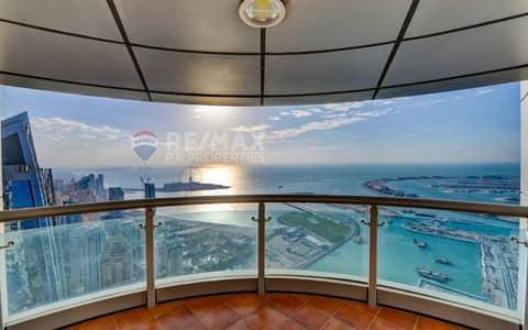 بنتهاوس 5 غرف نوم للايجار في دبي مارينا، دبي - Full Sea View | Penthouse | Top Floor