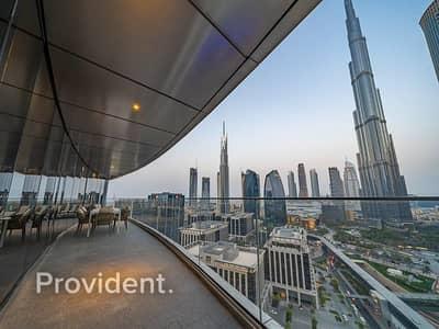 فلیٹ 3 غرف نوم للبيع في وسط مدينة دبي، دبي - 04 Series   Big Terrace with full Burj View