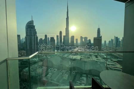 Best Layout/Full Burj View/Serviced 3BD + maid