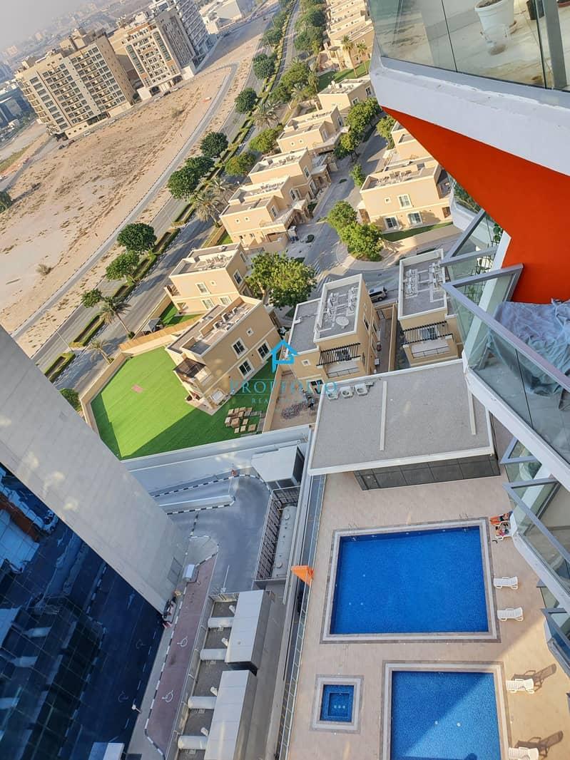 26 1 year old Pool & Villas views  Beautiful Vacant 1bhk