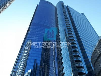Office for Sale in Al Reem Island, Abu Dhabi - High Floor Fitted Office  Sea View  Parking Space