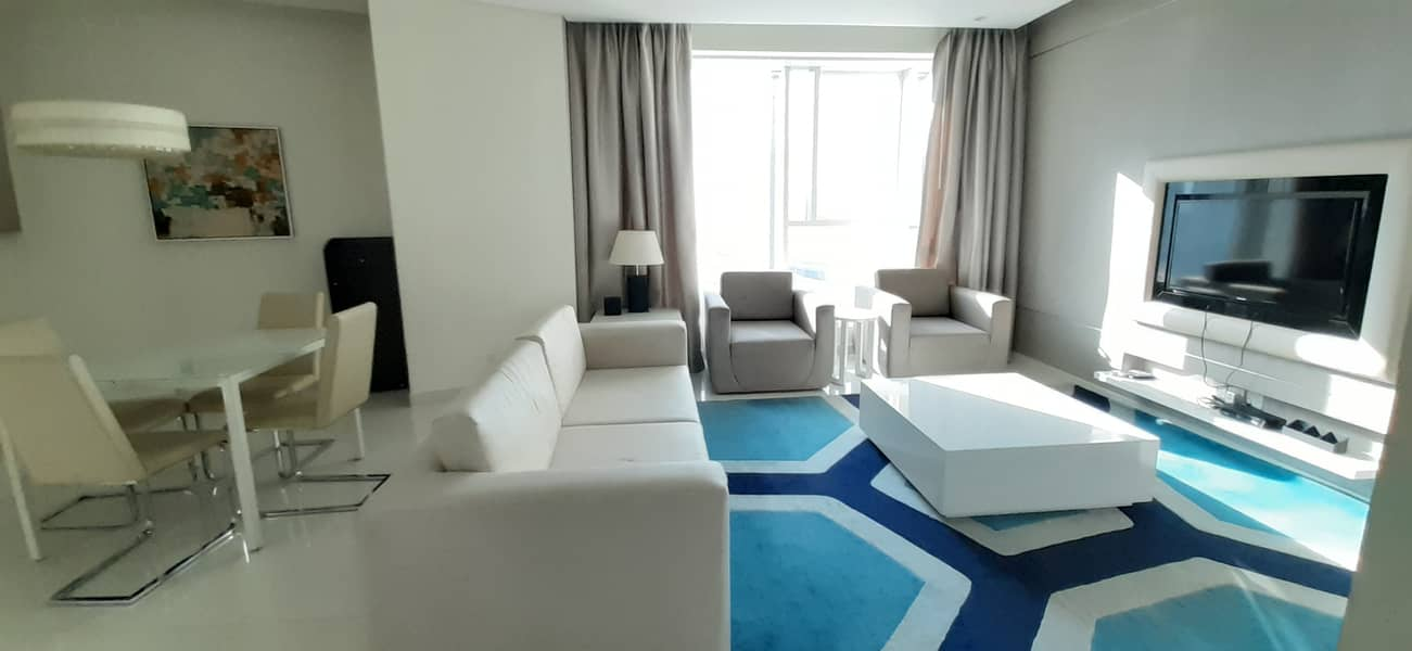 Spacious F,Furnished 1Bedroom Hall For Rent@57k In Damac Maison the Vogue Business Bay