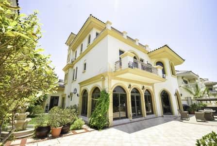 فیلا 6 غرف نوم للايجار في نخلة جميرا، دبي - Luxury 6 Bedroom Garden Homes Villa Palm Jumeirah  | Private Beach Access
