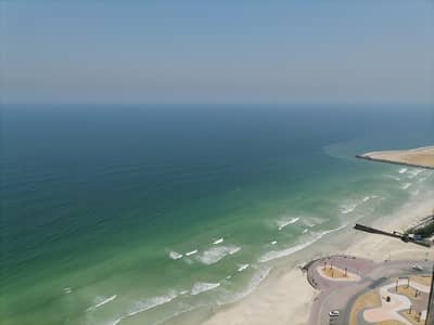2 Bedroom Flat for Rent in Corniche Ajman, Ajman - 2 BHK sea view+one month free+parking+free A/C available for rent