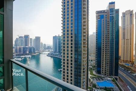 1 Bedroom Apartment for Sale in Dubai Marina, Dubai - Great Marina and Sea View  - Mid Floor -  Vacant soon