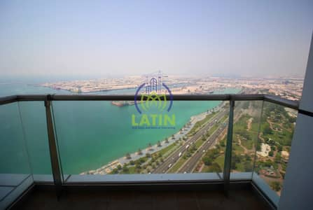 شقة 2 غرفة نوم للايجار في منطقة الكورنيش، أبوظبي - Sea View ! 2Bed+M+Laundry with Balcony