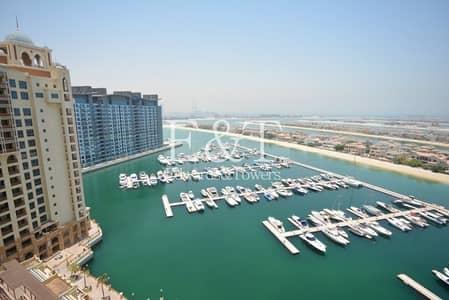 3 Bedroom Apartment for Sale in Palm Jumeirah, Dubai - High Floor | Sweeping Marina Ocean View | Tenanted