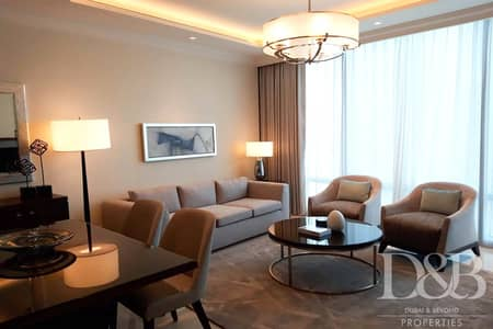 1 Bedroom Flat for Rent in Downtown Dubai, Dubai - Luxury Furnished | Serviced | Burj Views