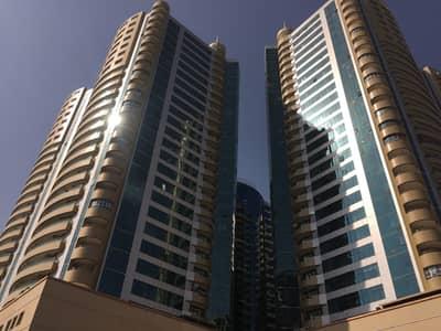شقة 2 غرفة نوم للايجار في عجمان وسط المدينة، عجمان - للايجار شقه مساحه كبيره غرفتين وصاله  في برج راقي- اطلاله بحريه