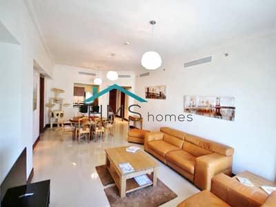 شقة 2 غرفة نوم للايجار في نخلة جميرا، دبي - 2 bedroom plus Maid | Park Facing | C type
