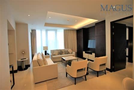 شقة 2 غرفة نوم للبيع في وسط مدينة دبي، دبي - Higher Floor   Sea & SZR view   Spacious 2 BR