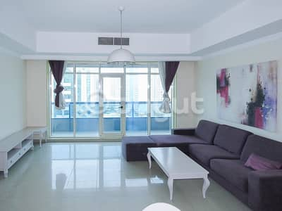 3 Bedroom Flat for Rent in Al Khan, Sharjah - OPEN VIEW 3 BHK SPACIOUS FLAT | AC FREE | 2 MONTHS FREE|