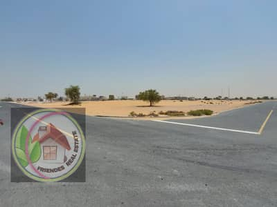 Plot for Sale in Al Mowaihat, Ajman - For sale, land in a very privileged location, commercial land on Sheikh Ammar Street, a ground permit and four floors, freehold for all nationalities