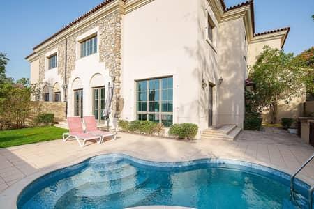 فیلا 4 غرف نوم للبيع في عقارات جميرا للجولف، دبي - Exclusive golf facing 4 bed villa. Vacant