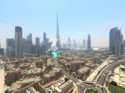 فلیٹ 3 غرف نوم للايجار في وسط مدينة دبي، دبي - Fully Upgraded | High Floor | Burj khalifa & Downtown View