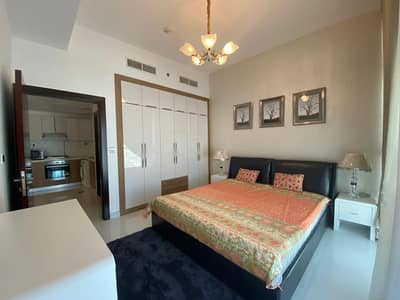 1 Bedroom Flat for Sale in Al Furjan, Dubai - Fully Furnished Brand New 1 BHK Converted In 2 Bedroom For Sale