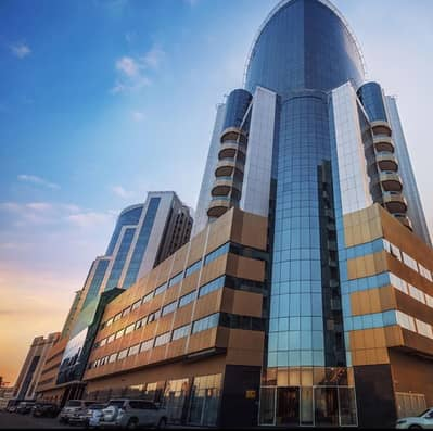2 Bedroom Flat for Rent in Al Bustan, Ajman - GREAT DEAL. . AMAIZING TWO BEDROOM HALL WITH PARKING IN ORIENT TOWER AJMAN