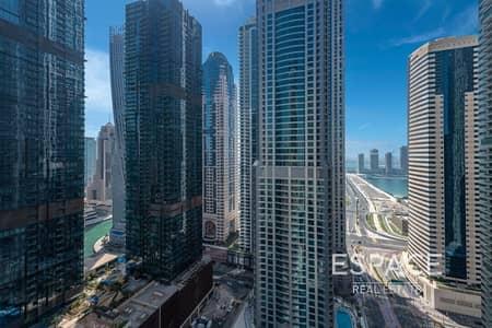 شقة 2 غرفة نوم للبيع في دبي مارينا، دبي - Vacant Partial Sea View 1075 Sqft BUA