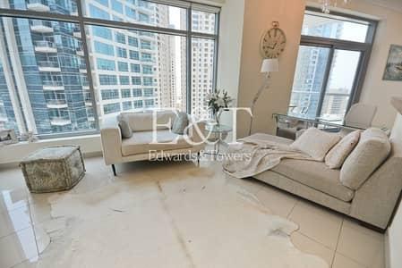 فلیٹ 1 غرفة نوم للايجار في دبي مارينا، دبي - Upgraded | Fully Furnished | Vacant Mid July