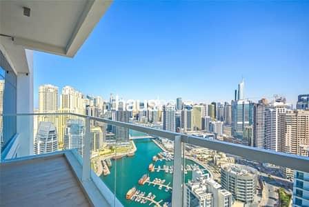 2 Bedroom Apartment for Rent in Dubai Marina, Dubai - Full Marina View   High Floor   2 Bed Available