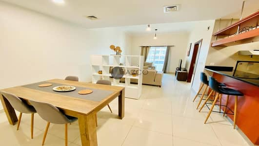 1 Bedroom Flat for Rent in Jumeirah Village Circle (JVC), Dubai - Fully Furnished | Unique layout | Pool view