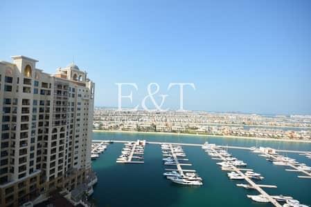 شقة 2 غرفة نوم للبيع في نخلة جميرا، دبي - High Floor |Open Marina Views | Rented | New