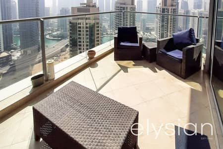 شقة 2 غرفة نوم للايجار في دبي مارينا، دبي - Marina and Sea View | Spacious | Unfurnished