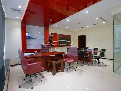 Classic Furnished Office with Glass Cabin