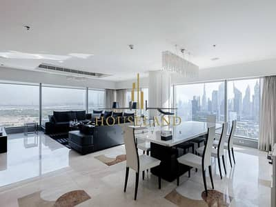 3 Bedroom Penthouse for Rent in World Trade Centre, Dubai - PANORAMIC VIEW  UNFURNISHED 3BR BILL INCLUSIVE BURJ VIEW