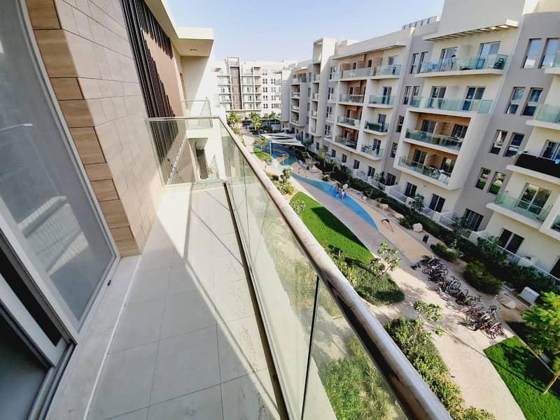 Garden View Luxery 2-Bhk Flat Rint = 68k  Al Zahia (Balcony Parking Gym Pool ) 2w\R Kides Play Aera Free
