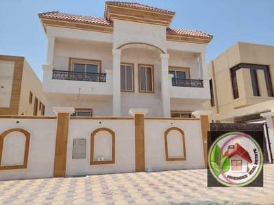 فیلا 5 غرف نوم للبيع في المويهات، عجمان - للبيع فيلا تصميم عربي واجهه حجر تملك حر لجميع الجنسيات بدون دفعه اولى