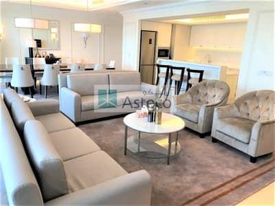 فلیٹ 4 غرف نوم للايجار في وسط مدينة دبي، دبي - Fully Furnished | Maidsroom | High floor