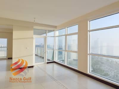 3 Bedroom Flat for Rent in Corniche Road, Abu Dhabi - Stunning Oceanfront 3 bedroom apartment with Maids Room