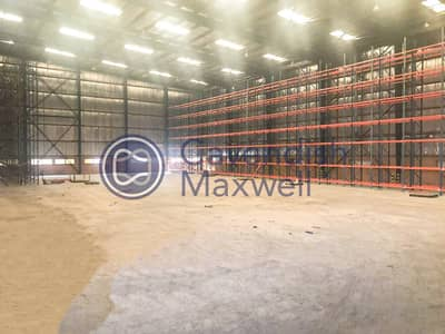 Warehouse for Sale in Jebel Ali, Dubai - WH with Large Open Area | Schaefer Shelving System