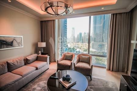 شقة فندقية 1 غرفة نوم للايجار في وسط مدينة دبي، دبي - Bills Included I Fountain Views I 1BR Furnished
