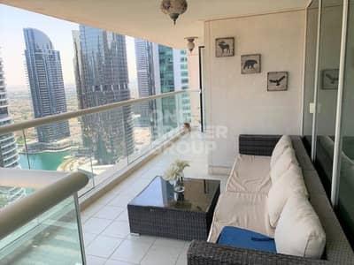 شقة 3 غرف نوم للايجار في أبراج بحيرات الجميرا، دبي - High Floor / Lake View / Big Balcony
