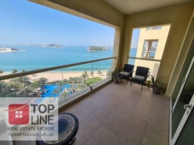فلیٹ 1 غرفة نوم للايجار في نخلة جميرا، دبي - Stunning Beach View | Real Listing | 1BR