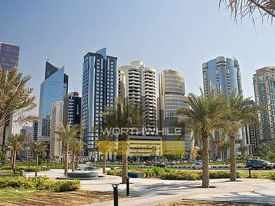 3 BHK Apt With Maid Room, Covered Parking Available For Rent, Located in the prime Khalifa St.