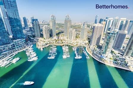 شقة 2 غرفة نوم للايجار في دبي مارينا، دبي - Upgraded  Full Marina  Rare Find