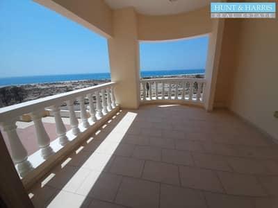 Studio for Rent in Al Hamra Village, Ras Al Khaimah - Beautiful Sea View   Partially Furnished   Low Floor  